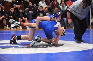 Kyle Aslanian '16 helped lead the way for the Panthers, going 5-0 at the S-5 Duals.