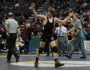 Trey Aslanian - Edgemont's first-ever State Champion. (Credit: Matthew Brown/The Journal News).