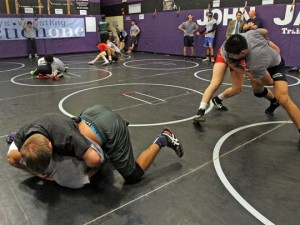 Action from the State Team practice.