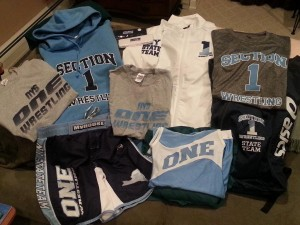 Section 1 Wrestling Gear (it pays to be a State Qualifier!)